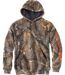 Carhartt 101763 Midweight Camo Sleeve Logo Hooded Sweatshirt