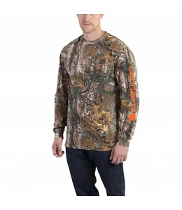 Carhartt Long Sleeve T-Shirt Workwear Graphic Camo Sleeve 101776
