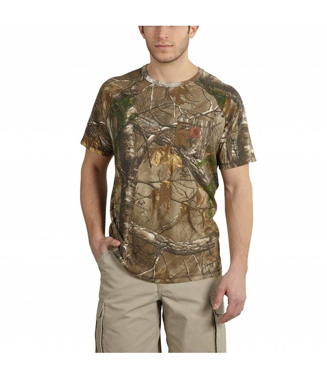 Carhartt 101543 Carhartt Force® Cotton Delmont Camo Short-Sleeve T-Shirt