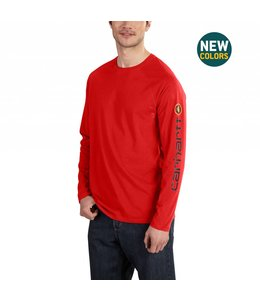 Carhartt 101302 Force® Cotton Delmont Sleeve Graphic Long-Sleeve T-Shirt
