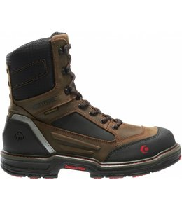"""Wolverine W10487 Overman Waterproof Carbonmax 8"""" EH Work Boot"""