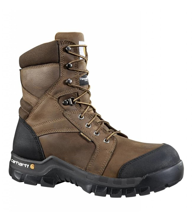 Carhartt Work Boot 8-Inch Brown Rugged Flex®Insulated CMF8389