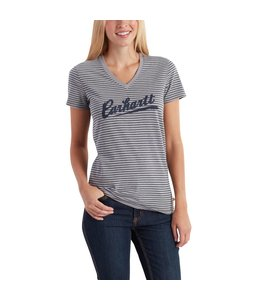 Carhartt 102597 Wellton Short-Sleeve Striped Logo T-Shirt