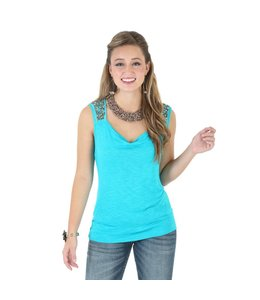 Wrangler Solid Top Rock 47® by Wrangler® Sleeveless with Draped Neckline LJK216Q