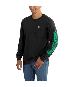 Carhartt Long Sleeve T-Shirt Maddock Graphic Carhartt Shamrock Sleeve-Logo 102559