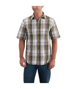 Carhartt 102535 Essential Plaid Open Collar Short-Sleeve Shirt