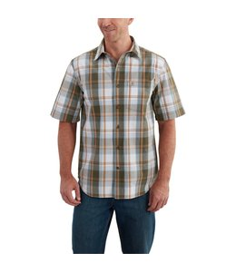 Carhartt Short-Sleeve Shirt Essential Plaid Open Collar 102535