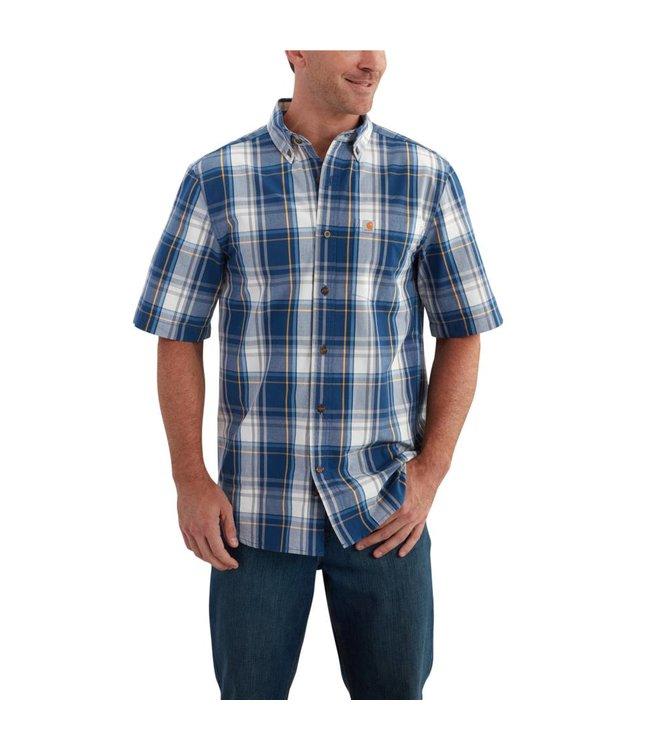 Carhartt 102536 Essential Plaid Button Down Short-Sleeve Shirt