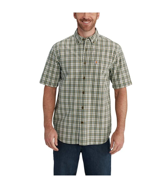Carhartt Short-Sleeve Shirt Essential Plaid Button Down 102536