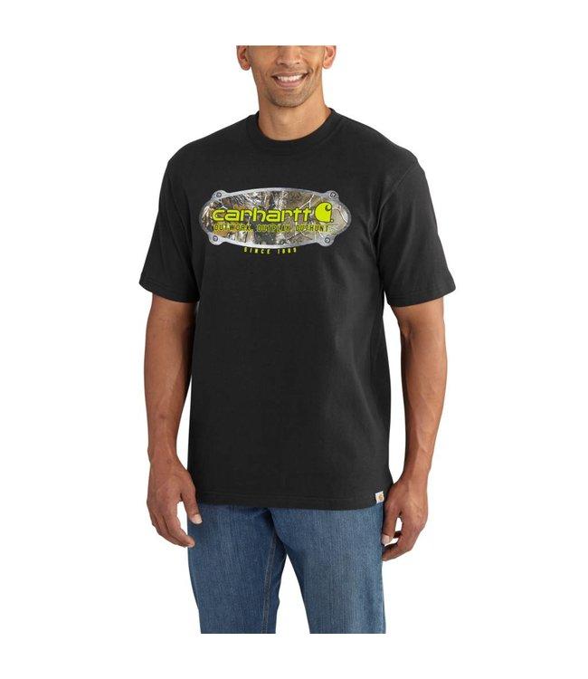 Carhartt Short Sleeve T-shirt Workwear Graphic Camo Metal Plate 102550
