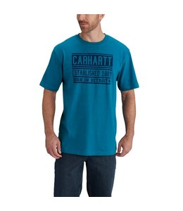 Carhartt Short Sleeve T-Shirt Workwear Graphic Born in Detroit 102553