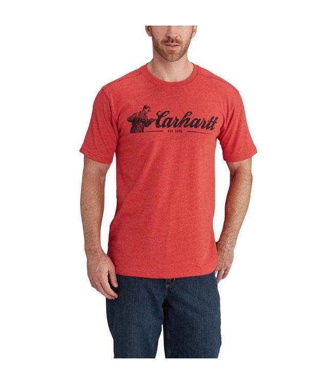 Carhartt Short Sleeve T-Shirt Maddock Graphic Carhartt Script 102555