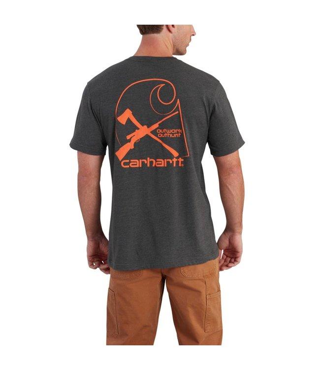 Carhartt Short  Sleeve T-Shirt Maddock Graphic Rugged Outdoors Branded C Pocket 102557