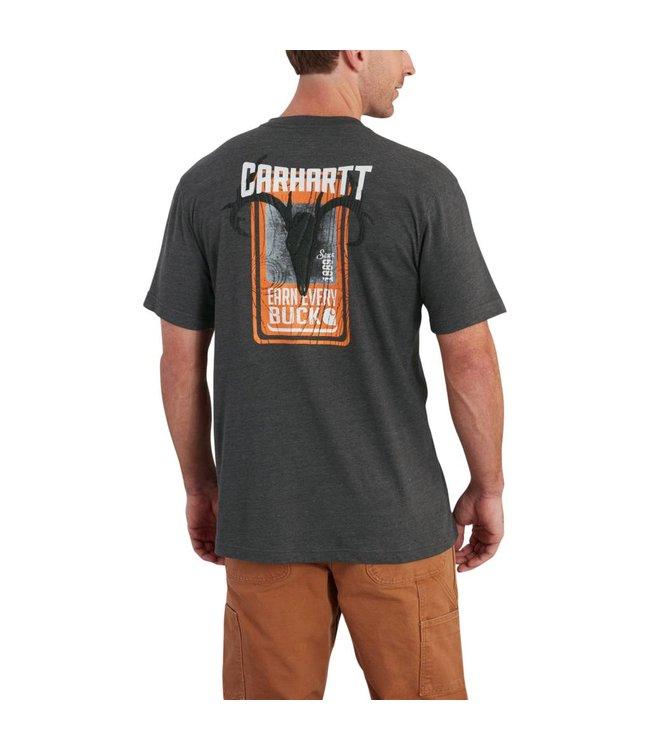 Carhartt Pocket Short Sleeve T-Shirt Maddock Graphic Earn Every Buck 102603