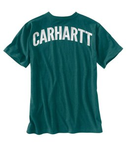 Carhartt Pocket Short Sleeve T-Shirt Maddock Graphic Block Lettering 102604