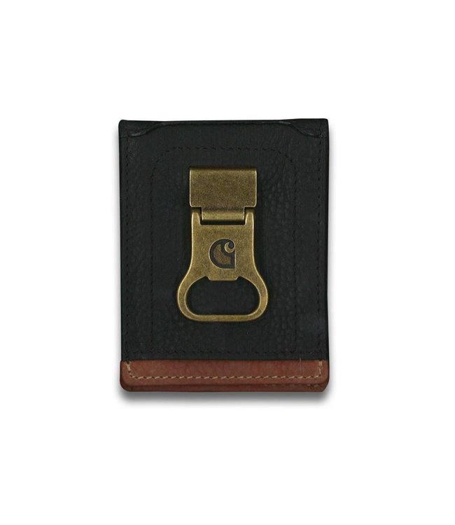 Carhartt Wallet Long Neck Black and Tan with Collectible Tin  61-2222