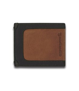 Carhartt Wallet Billfold Black & Tan with Collectible Tin 61-2223