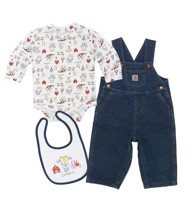 Carhartt Overall Set Boys Barnyard Friends CG8673