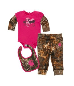 Carhartt 3 Piece Gift Set Girls Camo CG9675