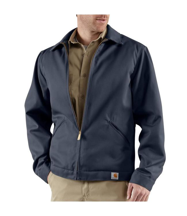 Carhartt Jacket Work Quilt Lined Blended Twill J293
