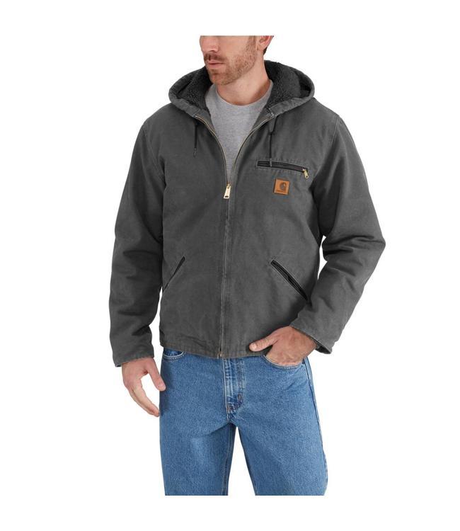 Carhartt Jacket Sandstone Sherpa Lined Sierra J141