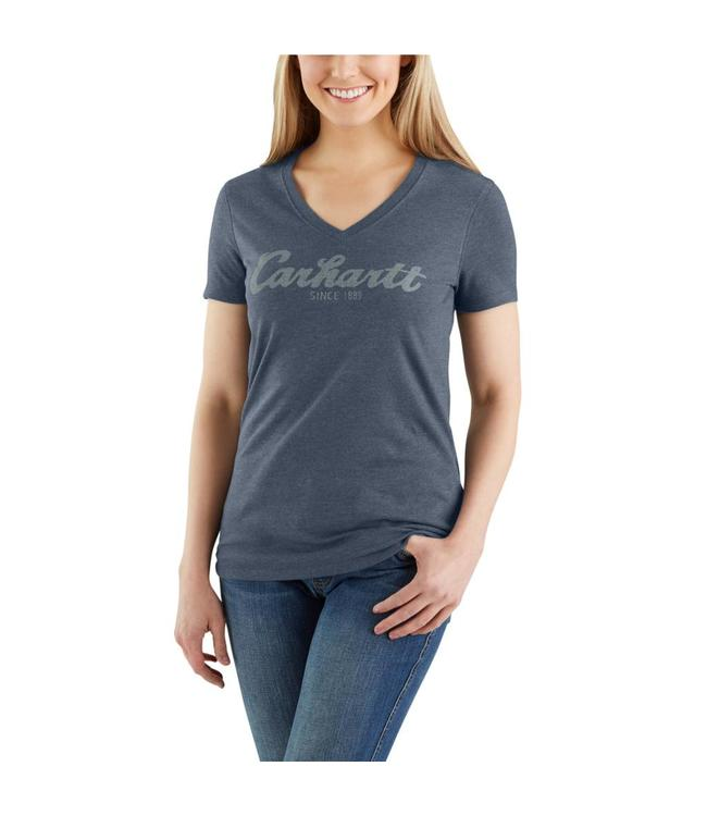 Carhartt T-Shirt Short-Sleeve V-Neck Lockhart Graphic Script Logo 103078
