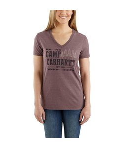 "Carhartt T-Shirt Short-Sleeve  V-Neck Lockhart Graphic ""Camp"" 103068"