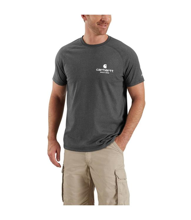 Carhartt T-Shirt Short-Sleeve 89 Logo Graphic Force Cotton Delmont 103184
