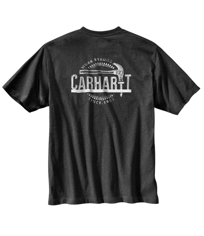 Carhartt Pocket T-shirt Short sleeve Mens Workwear Graphic Hammer 103186