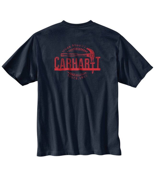 Carhartt Pocket T-shirt Short sleeve Mens Workwear Graphic Hammer 103186