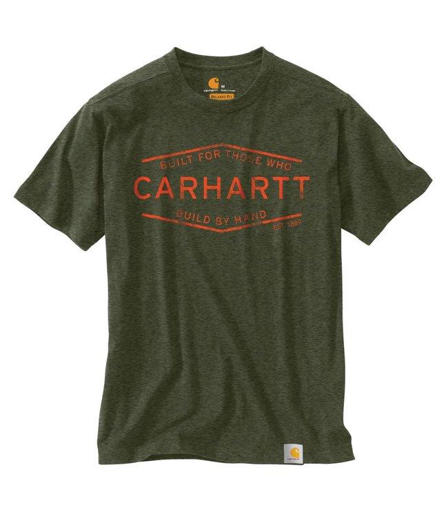 Carhartt T-Shirt Short Sleeve Mens Maddock Graphic Build by Hand 103182