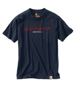 Carhartt T-Shirt Short Sleeve Mens Lubbock Graphic Made in USA 103181