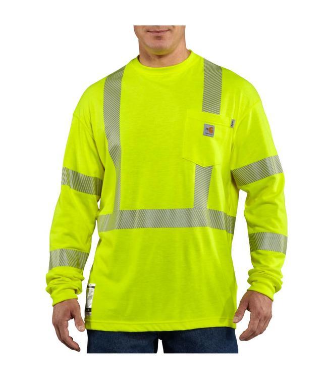 Carhartt Shirt Long Sleeve High Visibility Flame Resistant FRK003