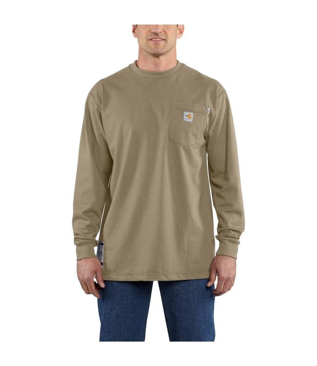Carhartt T-Shirt Long Sleeve Cotton Flame Resistant Force 100235