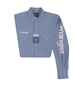 Wrangler Shirt Long Sleeve Snap Wrangler Logo MP1300M