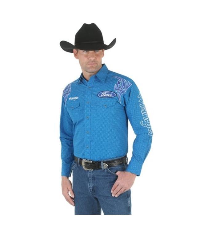 Wrangler Shirt Button Down Long Sleeve Ford Logo MP1284M
