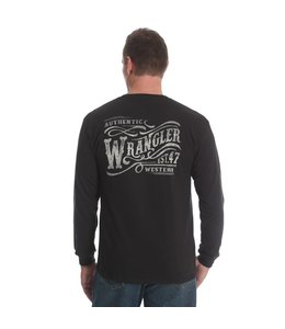 Wrangler Tee Wordmark Long Sleeve MQ7736X