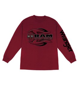 Wrangler T-Shirt Long Sleeve Ram Rodeo Series MQ7676R
