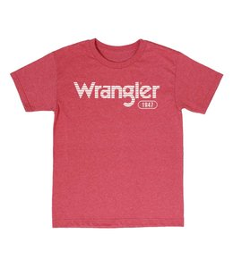 Wrangler T-Shirt Screenprint Short Sleeve Horizontal Stripe White Logo MQ7757R
