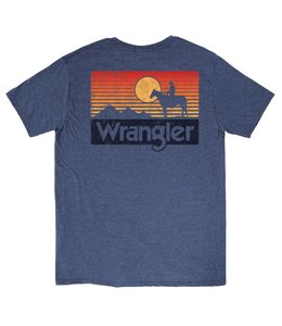 Wrangler T-Shirt Screenprint Short Sleeve Multi Color Horizon MQ7751D