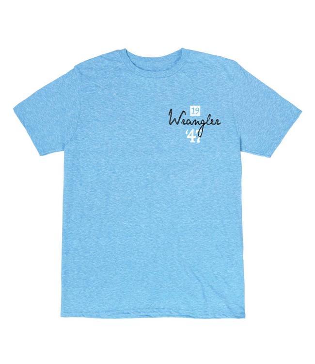 Wrangler T-Shirt Screenprint Short Sleeve 1947 Indigo Brand Denim MQ7741B
