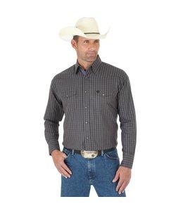 Wrangler Shirt Button Down Long Sleeve Troubadour George Strait  MGS66BK