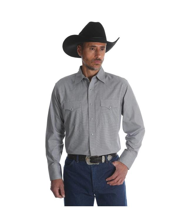 Wrangler Shirt Button Down Long Sleeve Silver Edition 75774GY