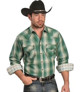 Wrangler Shirt Plaid Long Sleeve 20X MJ1355M