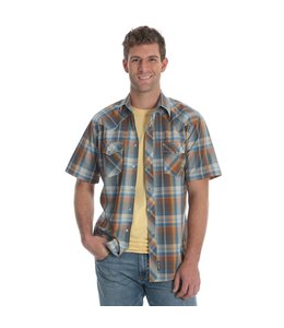 Wrangler Shirt Snap Down Short Sleeve Retro MVR337M