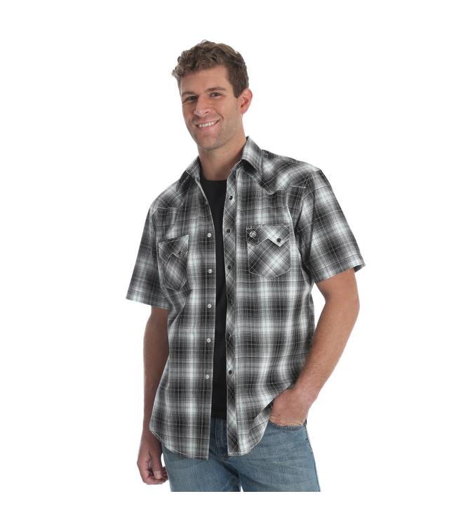 Wrangler Shirt Short Sleeve Snap Front Retro Western MVR331M