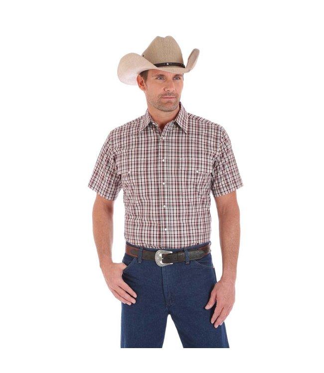 Wrangler Shirt Snap Front Short Sleeve Wrinkle Resist MWR339M