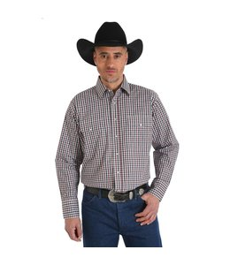 Wrangler Shirt Button Down Long Sleeve Wrinkle Resist MWR231M