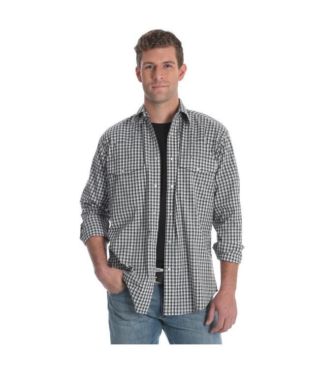 Wrangler Shirt Button Down Long Sleeve Wrinkle Resist MWR251M