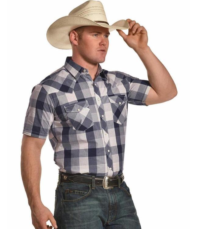 Wrangler Shirt Short Sleeve Snap Down Retro MVR335M